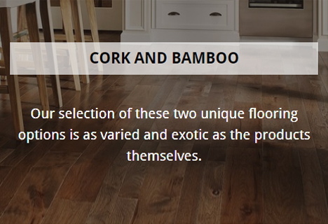 cork and bamboo